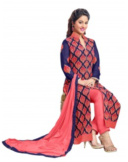 Hina Khan In Multi-Colour Georgette Salwar Suit  - 16753