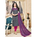 Office Wear Grey Chanderi Cotton Salwar Suit - 16768