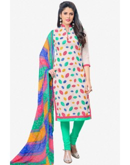 Casual Wear Multi-Colour Chanderi Salwar Suit - 16771