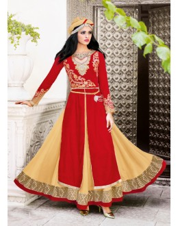 Red Colour Velvet Beautiful Lehenga Suit  - 16796