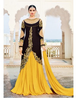 Black Colour Velvet Designer Lehenga Suit  - 16799