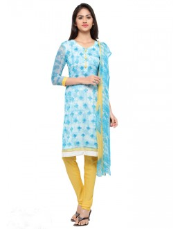Casual Wear Blue Georgette Salwar Suit - 16802
