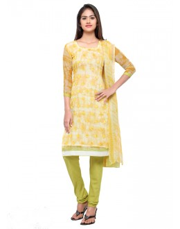 Ethnic Wear Yellow Georgette Salwar Suit - 16803