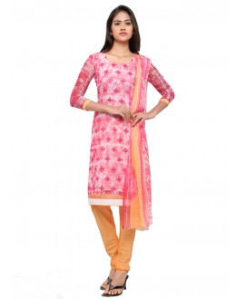 Office Wear Pink Georgette Salwar Suit - 16804