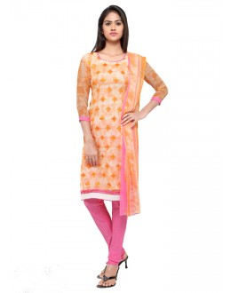 Office Wear Orange Georgette Salwar Suit - 16805