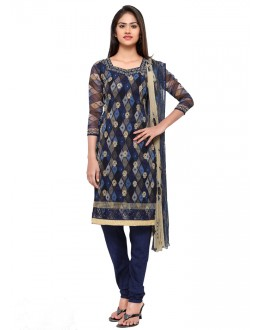Office Wear Blue Georgette Salwar Suit - 16807