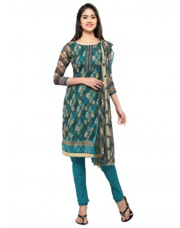 Ethnic Wear Green Georgette Salwar Suit - 16809