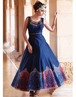 Festival Wear Readymade Pure Bhagalpuri Gown - 16879