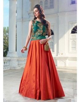 Traditional Ready-Made Pure Bhagalpuri Gown - 16883