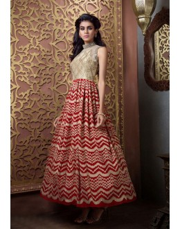 Ready-Made Cream Pure Bhgalpuri Gown - 16885