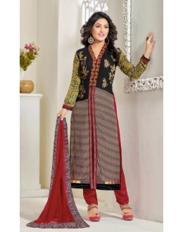 Hina Khan In Multi-Colour Georgette Salwar Suit - 16908