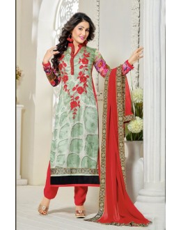 Hina Khan In Multi-Colour Georgette Salwar Suit - 16910