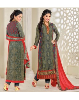 Hina Khan In Multi-Colour Georgette Salwar Suit - 16913