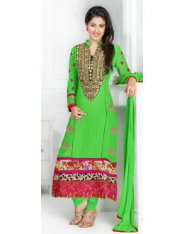 Hina Khan In Green Georgette Salwar Suit - 17027