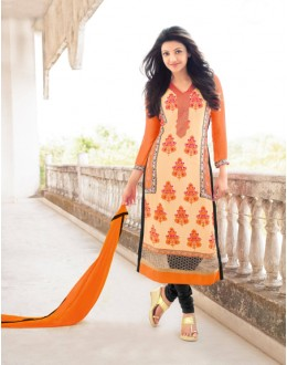 Office Wear Multi-Colour Georgette Salwar Suit - 17036