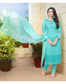 Karishma Kapoor In Light Green Georgette Salwar Suit  - 17056