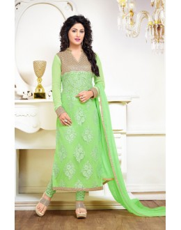 Hina Khan In Green Georgette Salwar Suit - 17060