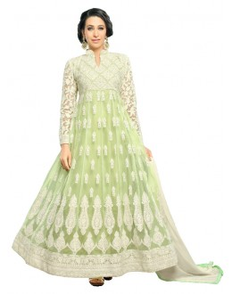 Karishma Kapoor In Light Green Net Anarkali Suit  - 17067