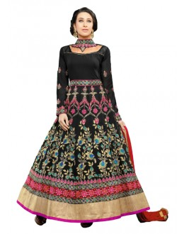 Karishma Kapoor In Black Georgette Anarkali Suit  - 17075