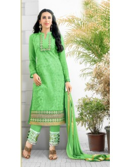 Karishma Kapoor In Light Green Georgette Salwar Suit  - 17167
