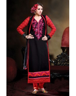 Ethnic Wear Black Georgette Salwar Suit - 17188