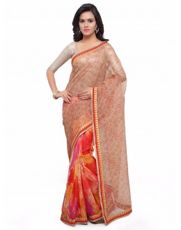 Casual Wear Multi-Colour Cotton Silk Bandhani Saree  - 17205