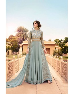 Festivel Wear Off Blue Georgette Anarkali Suit - 17240