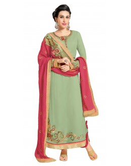Karishma Kapoor In Off Green Georgette Salwar Suit  - 17245