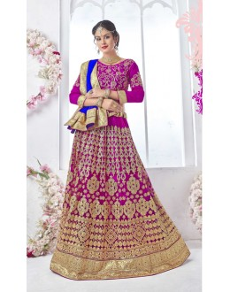 Pink Colour Net Attractive Lehenga Choli - 17325