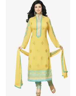 Ayesha Takia In Yellow Georgette Salwar Suit  - 17388