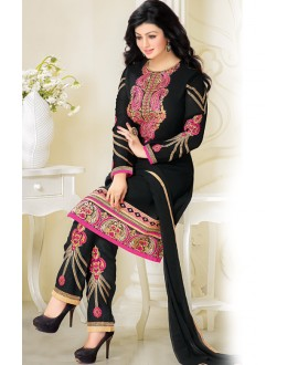 Ayesha Takia In Black Georgette Salwar Suit  - 17391