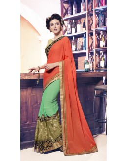 Ethnic Wear Multi-Colour Soft Chiffon Saree  - 17959