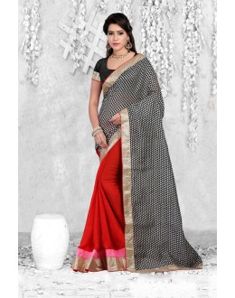 Ethnic Wear Multi-Colour Bhagalpuri Saree  - 18070