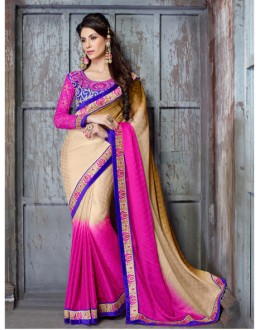 Festival Wear Multi-Colour Georgette Saree  - 18146