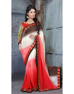 Ethnic Wear Multi-Colour Georgette Saree  - 18148