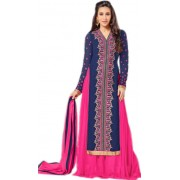 Karishma Kapoor In Blue Georgette Lehenga Suit  - 18173