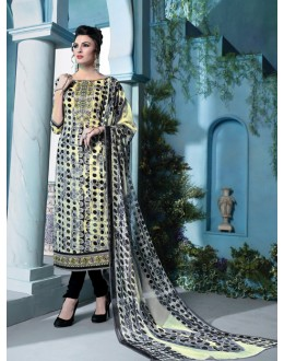 Ethnic Wear Multi-Colour Cambric Cotton Salwar Suit - 18389