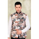 Ethnic Wear Readymade Multi-Colour Waistcoat For Men - 18414