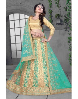 Designer Multi-Colour Net Lehenga Choli - 18425