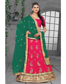 Rani Colour 60 Gm Georgette Lehenga Choli - 18434