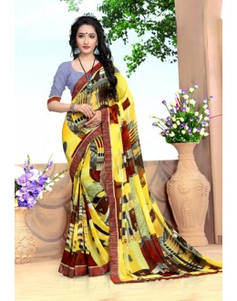 Casual Wear Multi-Colour Georgette Saree  - 18491