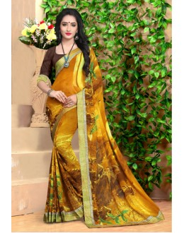 Ethnic Wear Multi-Colour Georgette Saree  - 18495