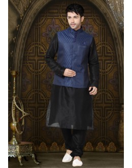 Blue Colour Readymade Waistcoat For Men - 18501