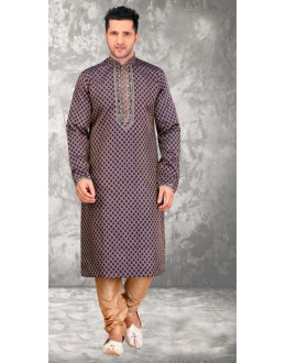 Festival Wear Readymade Brown Kurta & Pajama - 18520