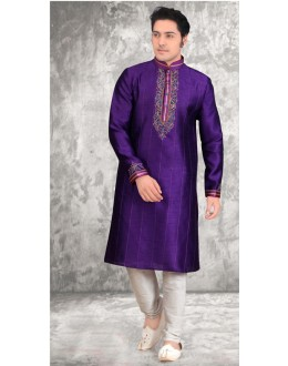Party Wear Readymade Purple Kurta & Pajama - 18528