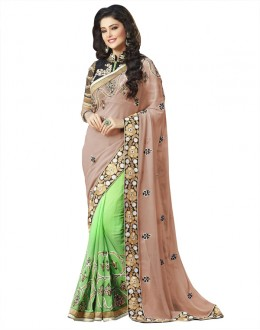 Ethnic Wear Multi-Colour Georgette Saree  - 18533