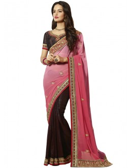 Festival Wear Multi-Colour Georgette Saree  - 18544