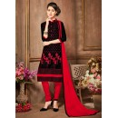Ethnic Wear Black Glaze Cotton Salwar Suit - 18615