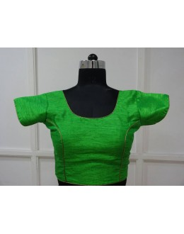 Casual Wear Readymade Green Banglori Blouse - 18859