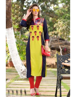 Casual Wear Readymade Multi-Colour Rayon Tunic - 18875